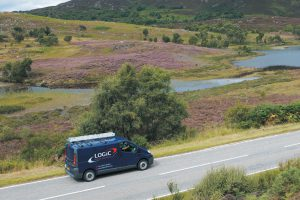 Logic Alarms van in the Highlands